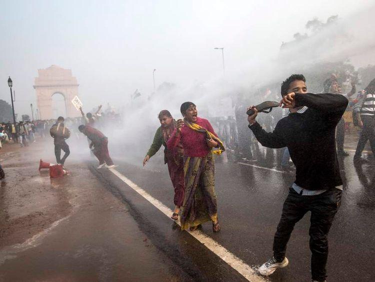 Protests in New Delhi over rape laws