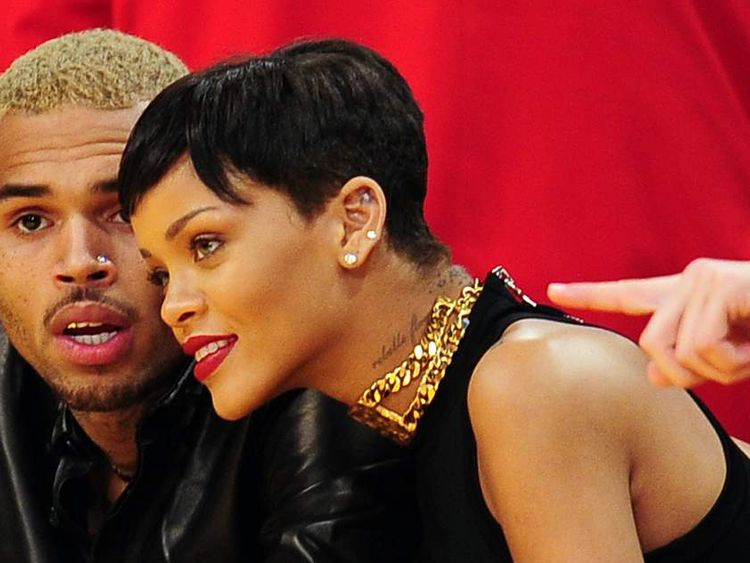 Brown and Rihanna at a Lakers basketball game in December