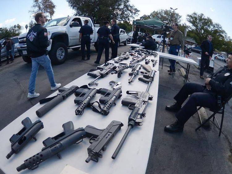 Guns for food event in Los Angeles