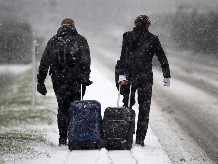 UK Hit By Heavy Snow Fall