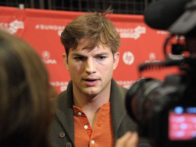 Ashton Kutcher is interviewed at the jOBS premiere in Utah