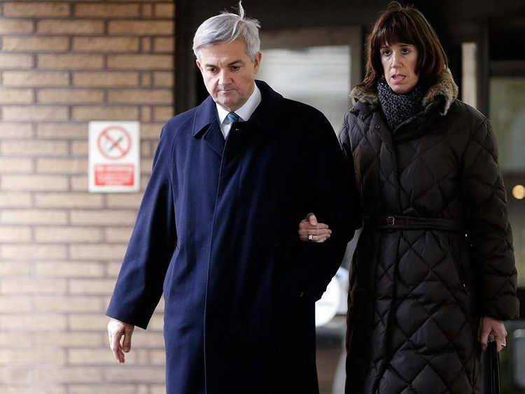 Chris Huhne and Carina Trimingham