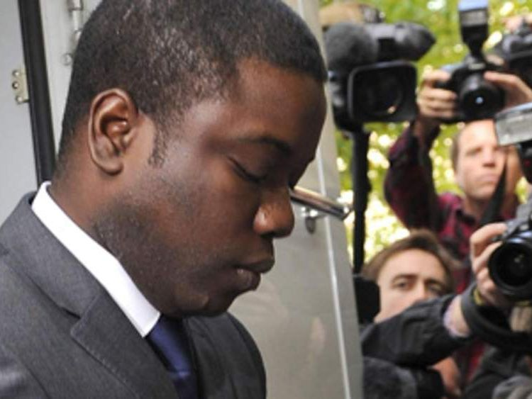 Kweku Adoboli, 31, arriving at City of London Magistrates' Court