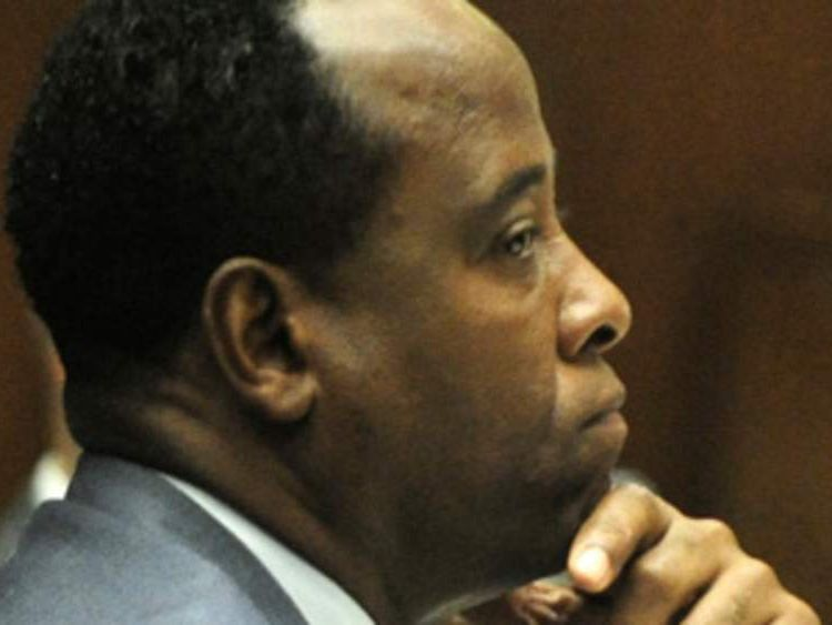 Michael Jackson's doctor Conrad Murray at his trial where he is accused of involuntary manslaughter