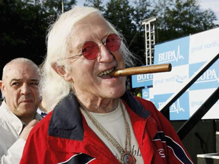 Sir Jimmy Saville prepares for The Bupa Great North Run on October 1, 2006 in Newcastle, England.