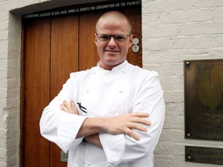 Heston Blumenthal outside his Fat Duck restaurant when it reopened in March, 2009.