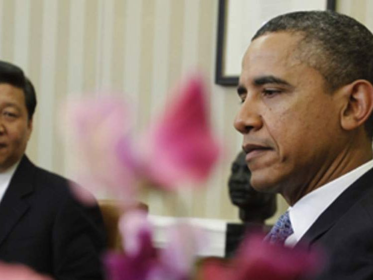 Barack Obama meets Xi Jinping in the Oval Office