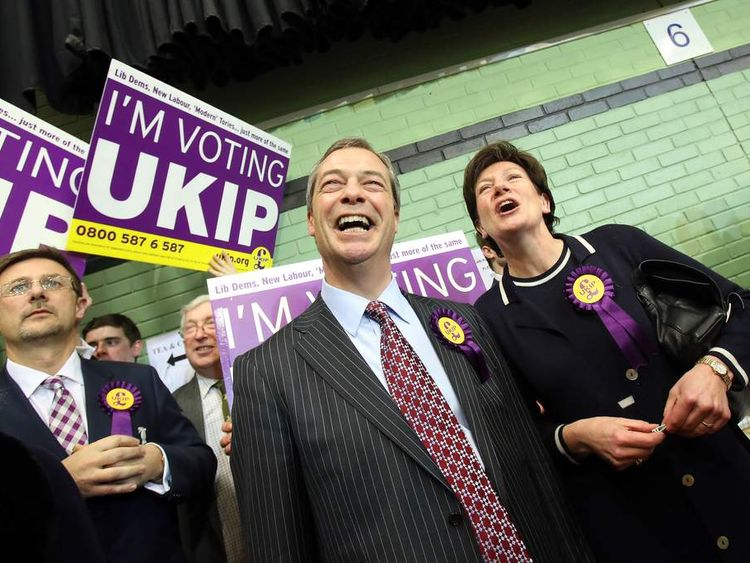 UKIP celebrate in Eastleigh by-election