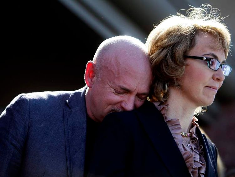 Mark Kelly and his wife, Gabrielle Giffords