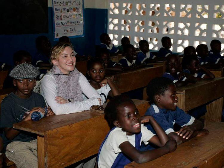Madonna Visits Malawi With Adopted Children