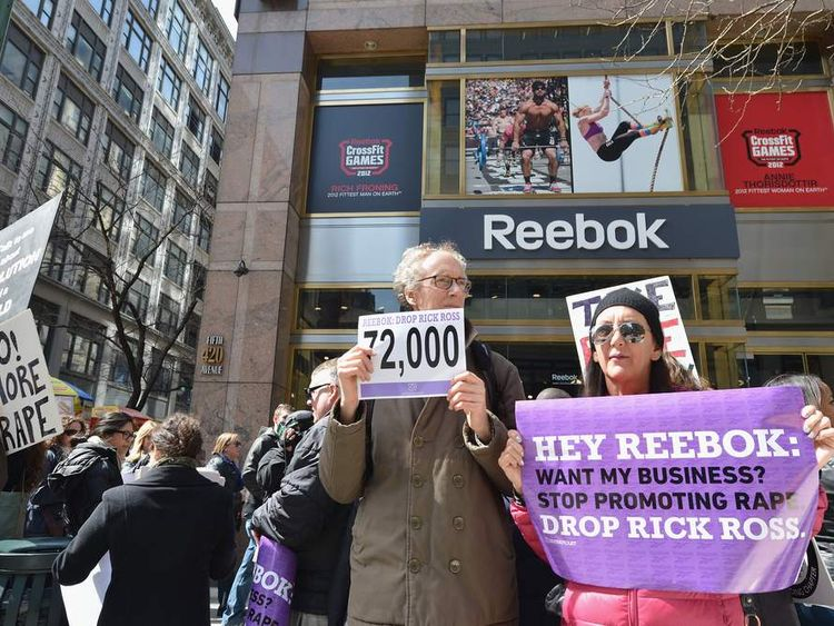 Protest For Reebok To Fire Rick Ross