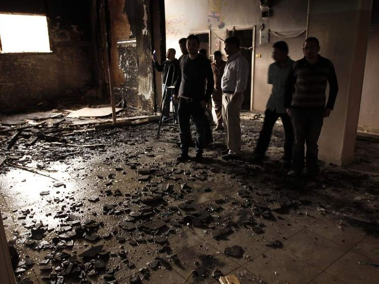 Destroyed room near Cairo