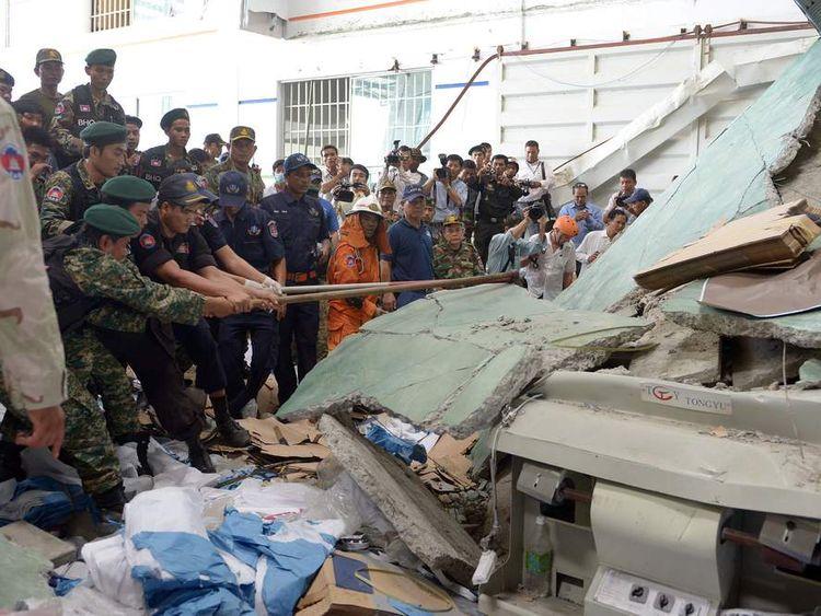CAMBODIA-INDUSTRY-ACCIDENT