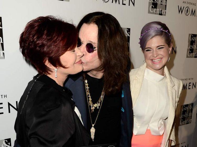 Sharon Osbourne, singer Ozzy Osbourne and their daughter Kelly Osbourne