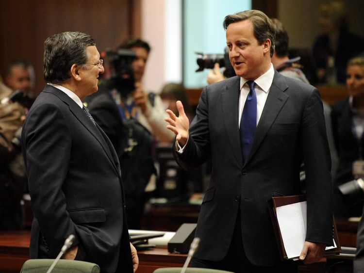 David Cameron and Jose Manuel Barroso in Brussels