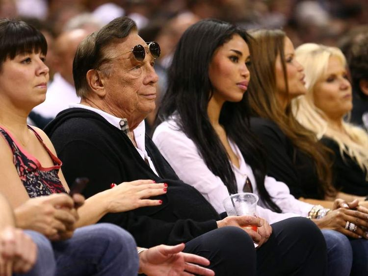Los Angeles Clippers owner Don Sterling is pictured in San Antonio, Texas.
