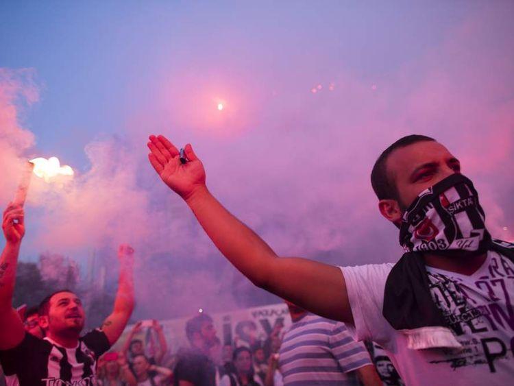 Anti-government protests in Taksim Square in Istanbul, Turkey