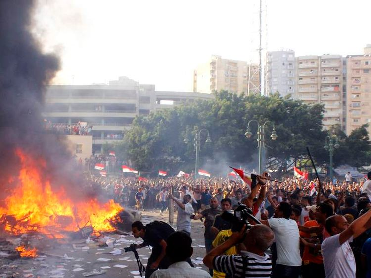 Protests in the Egyptian city of Alexandria