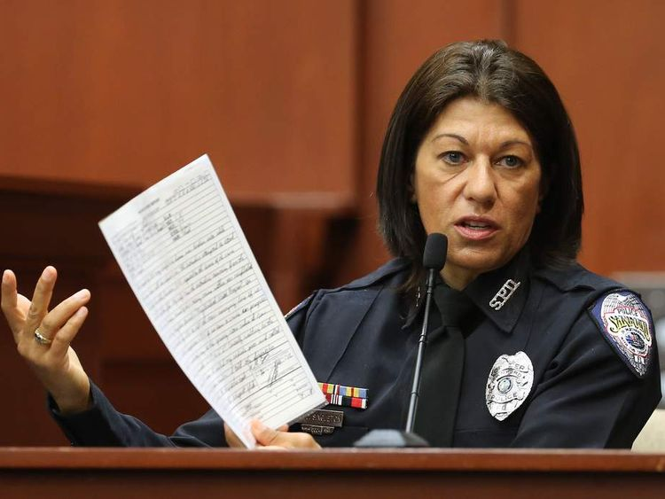Sanford police officer Doris Singleton testifies at trial