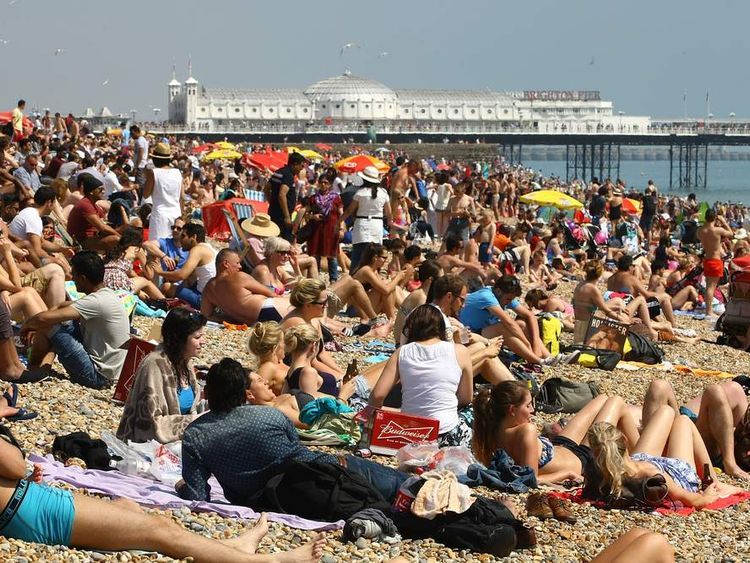 Sunseekers Head To The Beach as the country enjoys a heatwave