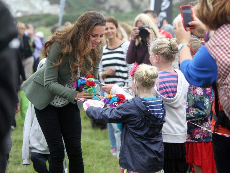The Duke And Duchess Of Cambridge Start The Ring O'Fire Anglesey Coastal Ultra Marathon