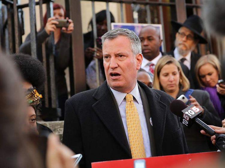 New York City Mayoral Candidate Bill De Blasio Casts His Vote