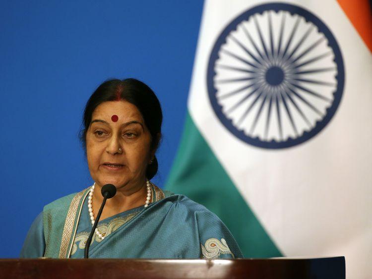 India's Foreign Minister Sushma Swaraj  has intervened