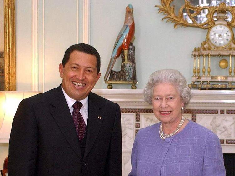 British Queen Elizabeth II and Venezuela