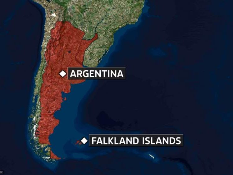 A map of the Falkland Islands