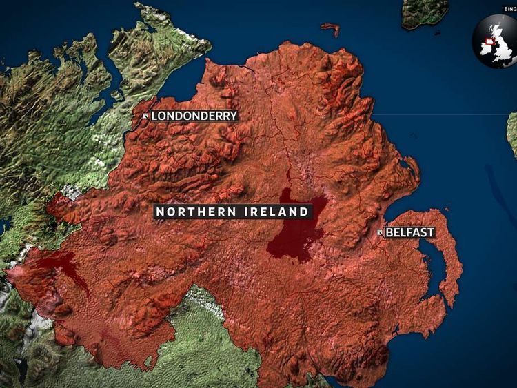 map Londonderry, NI