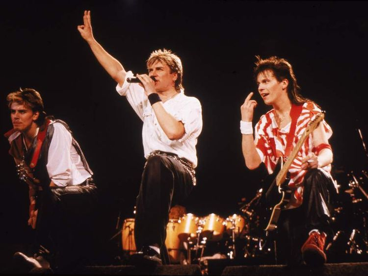 Duran Duran perform on stage in 1984