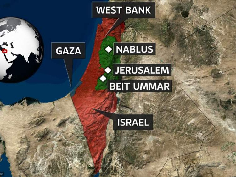 Israel/ West Bank map