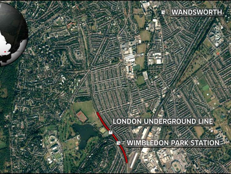 Tom Maynard was hit by a tube train around two miles from Wandsworth, where he had been on a night out with friends
