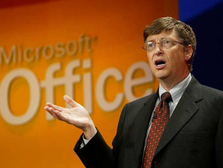 Bill Gates launches the then-newest version of Microsoft Office in 2003
