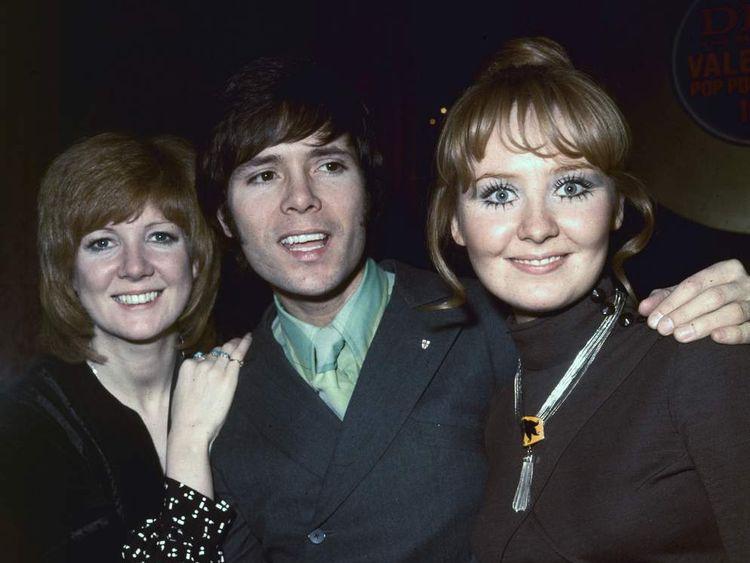 Cilla Black (left), Cliff Richard and Lulu