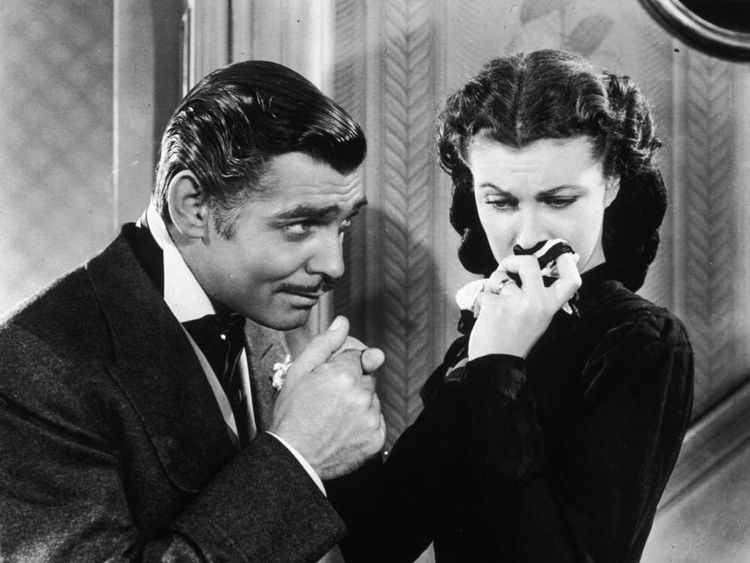 Clark Gable and Vivien Leigh as Rhett Butler and Scarlett O'Hara in Gone With The Wind (1939)