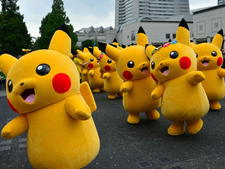 The game features the iconic Pokemon character Pikachu