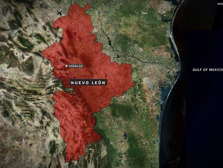 Map of Hidalgo, Mexico