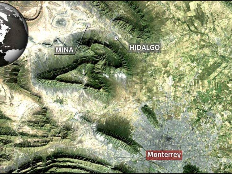 Hidalgo and Mina are near northern Mexican city Monterrey