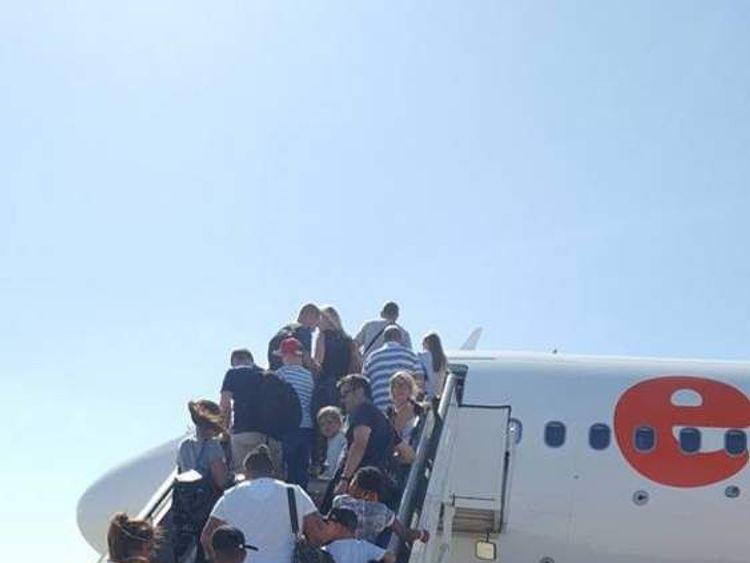 easy jet passengers