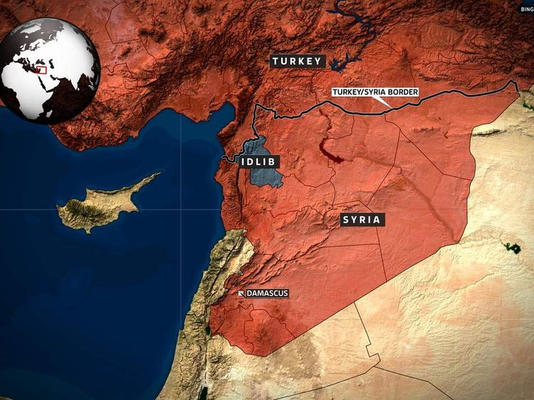 Syria With Turkey Border