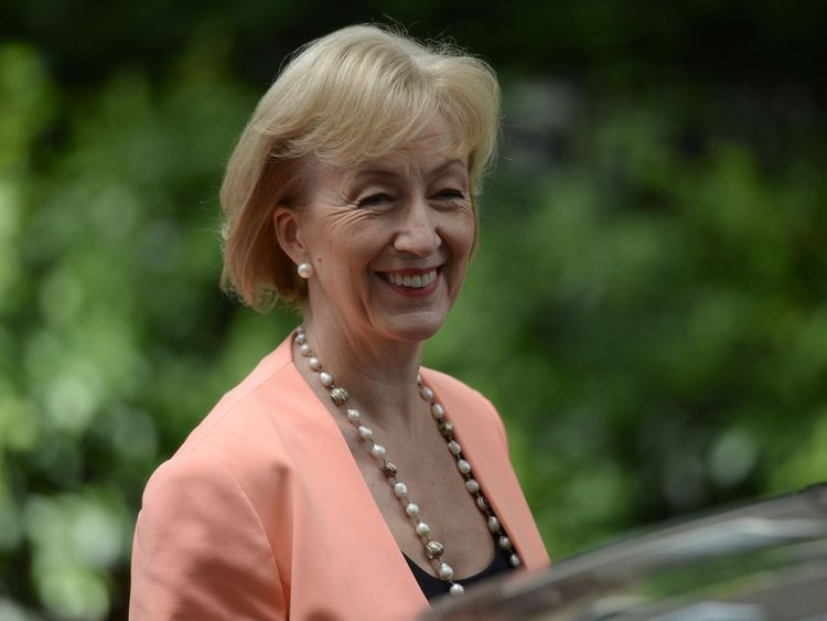 Andrea Leadsom is now Environment Secretary.