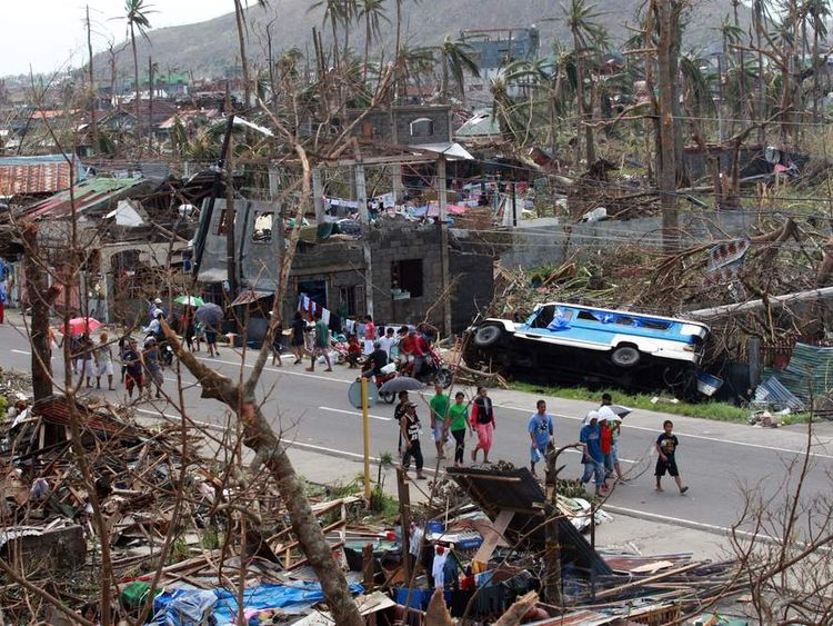 Tens of thousands of people have died in the disaster