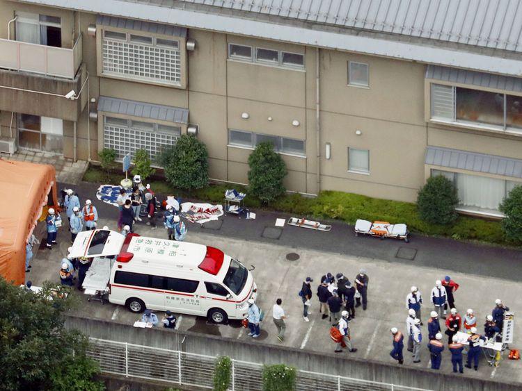 A man has killed several people at the centre  in Sagamihara