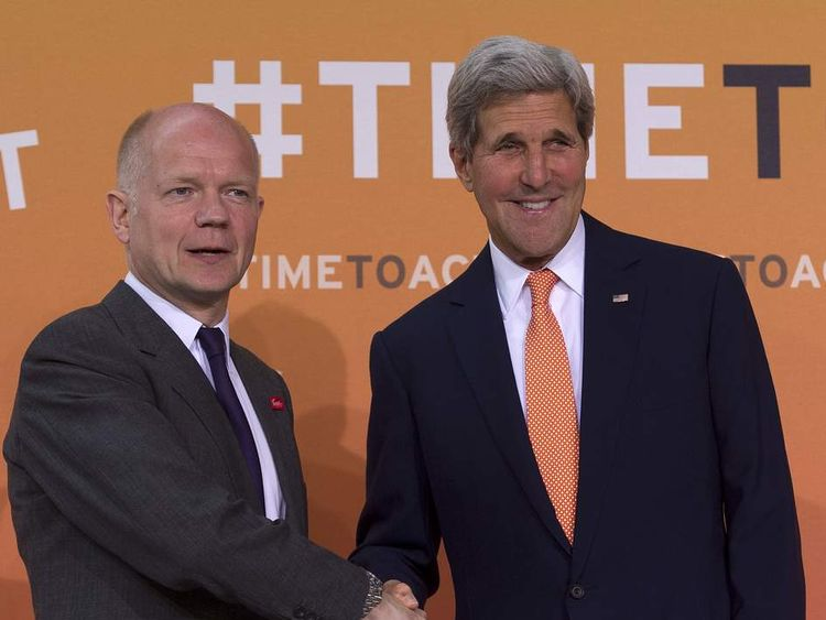 William Hague and John Kerry at war zone rape summit