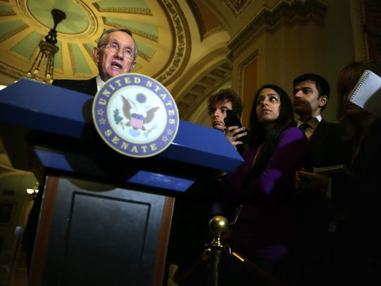 Senate Democrats Speak To The Press After Weekly Policy Luncheons