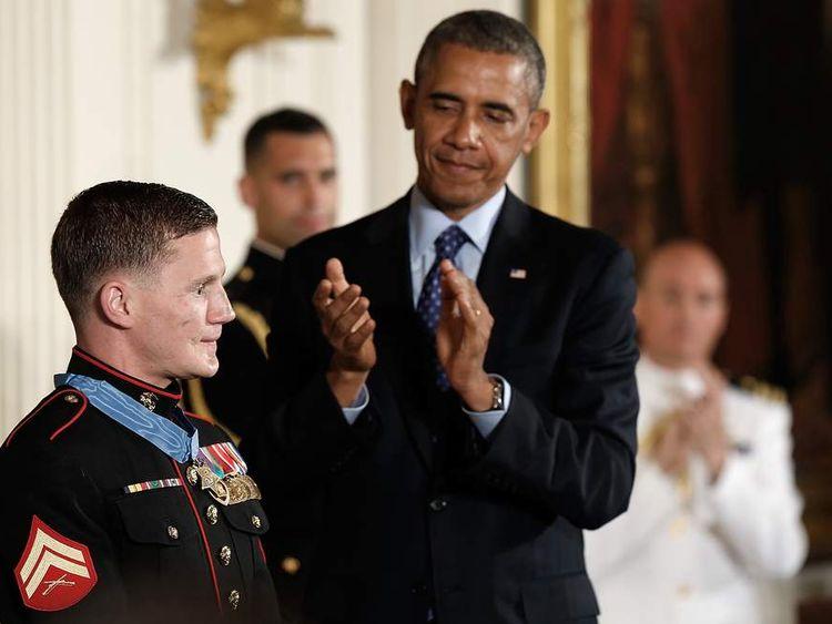 President Obama Awards Medal Of Honor To Marine William Kyle Carpenter