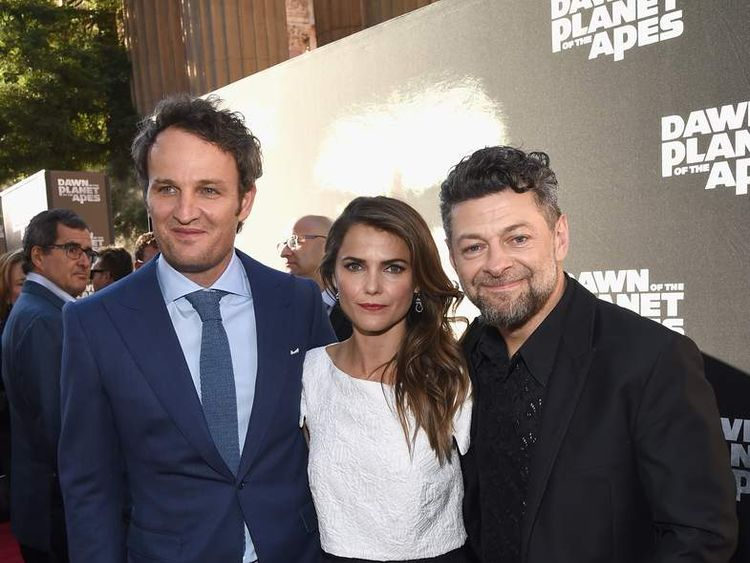 Jason Clarke, actress Keri Russell and actor Andy Serkis
