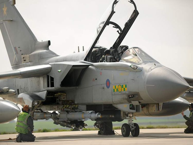 Tornado GR4 Prepares for Takeoff to Support UN Sanctioned No Fly Zone over Libya