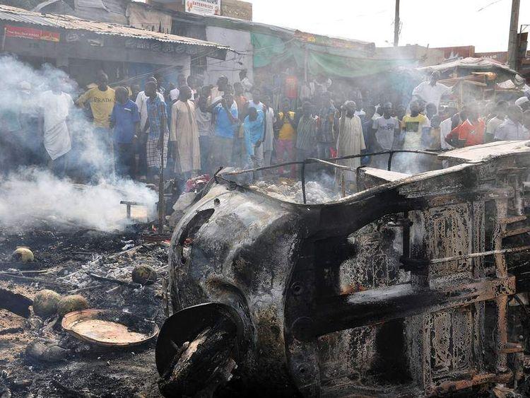 Bomb attacks by Boko Haram in northeastern Nigeria